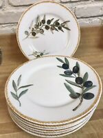 The Cellar Salad/Luncheon Plates Olives Federated Department Stores, (set of 7)