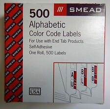 Smead 67374 Single Digit End Tab Labels Number 4 Light Green 500//Roll