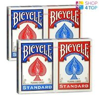 4 DECKS BICYCLE RIDER BACK STANDARD INDEX PLAYING CARDS 2 RED 2 BLUE NEW