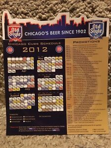 2012 CHICAGO CUBS MAGNET SCHEDULE OLD STYLE SPONSORED - MINT