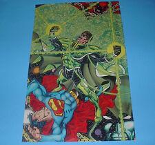 DC COMICS  PARALLAX VS SUPERMAN POSTER PIN UP GREEN LANTERN