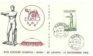 1960 ITALIA OLIMPIADI GIOCHI OLIMPICI DI ROMA  FDC VENUS  BC17