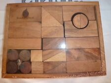 Wooden Tangram Geometry Puzzle - Handcrafted in Kingdom of Thailand - Sealed