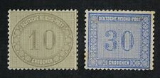 CKStamps: Germany Stamps Collection Scott#12 13 Mint H OG #13 Tiny Thin