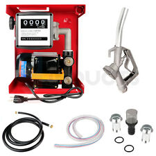 110v Electric Fuel Transfer Pump 155w 60lmin Withnozzle Meter For Oil Fuel Diesel