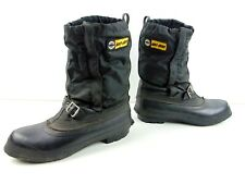 Ski Doo Boots With Buckle Mens Size 7 Black Made In Canada