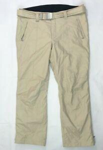 Bogner Ski Insulated Pants Men's Size US 44 EU 58 Beige Belted Lined Ski Pants