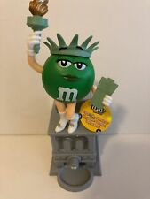 M&M's World Green Character Miss Statue of Liberty Candy Dispenser New with Tag
