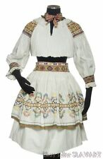 SLOVAK FOLK COSTUME Zliechov embroidered blouse pleated skirt apron Cicmany KROJ