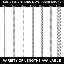 925 STERLING SILVER CURB CHAIN NECKLACE NEW