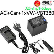 3.9A Battery +Charger VW-VBT190 VW-VBT380 HC-VX989 V110 V160 V180 W570 W580 W850