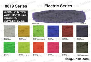 SILICONE SKIRT TABS/MATERIAL - 8819 Electric Bio-Silk Series