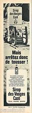 PUBLICITE ADVERTISING 055  1966  CAZE    sirop des VOGES pour la toux