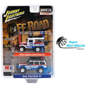 Johnny Lightning 1:64 - 2-Pack 1980 Land Cruiser & Jeep Cherokee XJ - Off Road