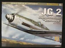 """Kagero Book: JG 2. Jagdgeschwader """"Richthofen"""" - 28 pg, DECALS, Color Paint Sche"""