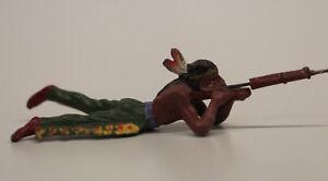 Elastolin Masse Indianer Schütze liegend  7,5 cm Serie