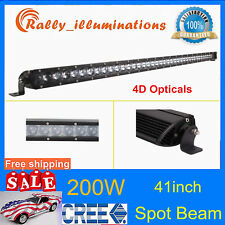 "Slim 41"" 200W Single Row LED Light Bar CREE 4D Lens Spot Lamp Offroad 4WD PK 42"""