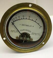 """(1) Burlington Decibel Meter Model  335 Military Sealed 3 1/2"""" Used *Untested*"""
