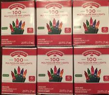 NIB Holiday Time LOT OF 6 Boxes 100 Multicolor Mini Christmas Wedding Lights gaz