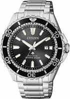 NEU Citizen Silber Herren Armbanduhr Promaster Marine BN0190-82E