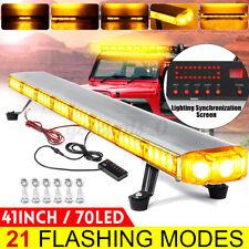 41Inch 70 LED Car Strobe Warning Emergency Flashing Light Bar Lamp Amber