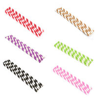 KQ_ 25pcs Coloured Paper Straws Drinking Straw for Birthday Party Wedding Novelt