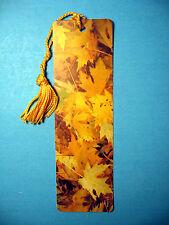 """""""Autumn Leaves"""" Print on a Tassel Bookmark (flag gold tassel) Sku# 330"""