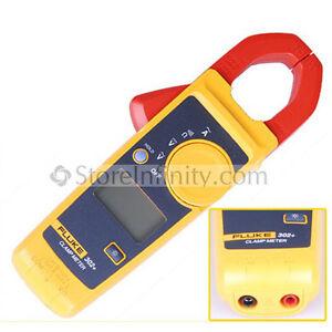 Fluke 302+ Clamp Meter AC/DC Handheld Multímetro 400A 0.1Ω 25mm