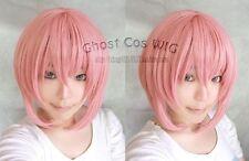 New Fashion Short Smoke Pink Straight Cosplay Wig