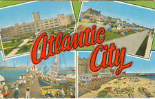 1947 Linen Postcard - Atlantic City, New Jersey, four views