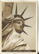 POST CARD OF THE STATUE OF LIBERTY IN NEW YORK HARBOR