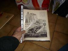 Page Publicité et Magazine Assurance DAS Illustrée Geo Ham 1939 Fresnay S Sarthe