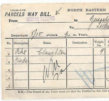BC195 1892 GB Northumberland *SEATON DELAVAL* NER Station Parcel Way Bill NEW