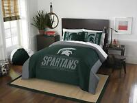 "Michigan State Spartans Full/Queen Comforter & Shams OFFICIAL NCAA ""Modern Take"""