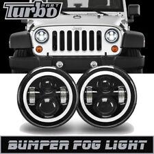 Halo Angel Eyes For Jeep Wrangler Jk Dot H4 7'' Led Projector Headlight Drl Side
