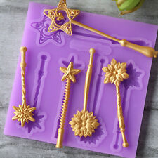 Fairy Magic Wand Fondant Cupcake Mold Silicone Mould Star Brooch Baking Tools