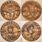 Icones Imperatorum Romanorum Hubert Goltzius 1645, Set of 4 Woodblock Prints