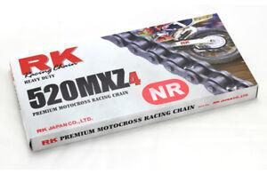 catena trasmissione motocross enduro Rk Mxz4 passo 520 colorata rossa offroad CR