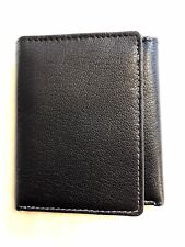 Topman Black Leather Trifold Wallet