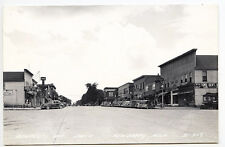 Newberry MI Tom's Department Store Other Store Fronts Old Cars RPPC Postcard