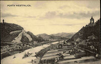 Porta Westfalica alte Ansichtskarte ~1910 Blick ins Wesertal mit Wittekindsberg