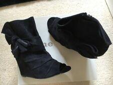 Zip Suede Wedge Dune Boots for Women