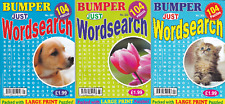 WORDSEARCH BOOK - LARGE PRINT -  3 BOOK SET - 312 PUZZLES - NEW - SET 20