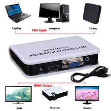 LK_ JF_ Audio VGA to HDMI Output 1080P HD HDTV Video Converter Adapter for _GG