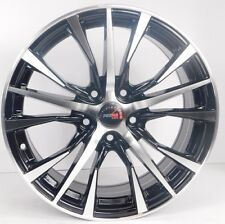 "16x6.5"" 5x114.3 Custom Wheels Rims fits Mustang - Set of 4 - Black & Silver"