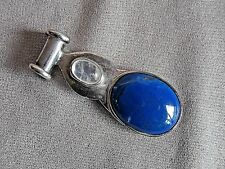 Lapis Lazuli and Rainbow Moonstone Pendant set in Sterling Silver.
