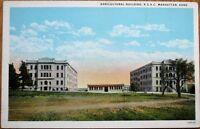 Manhattan, KS 1920s Postcard: College Agricultural Building - Kansas Kans