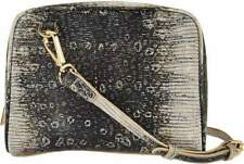 Lori Goldstein Genuine Italian Leather Embossed Crossbody Double Bag $195