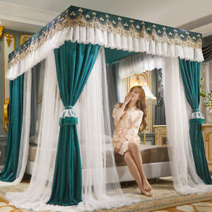 double layers modern mosquito net light shading curtain for bed dust proof tubes