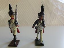 2 x 54mm White Metal Napoleonic Russian Grenadiers with sloped rifles